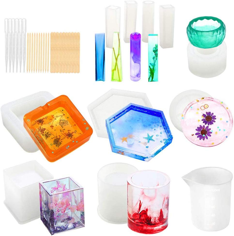 Resin Molds, WEST BAY 37Pcs Silicone Molds