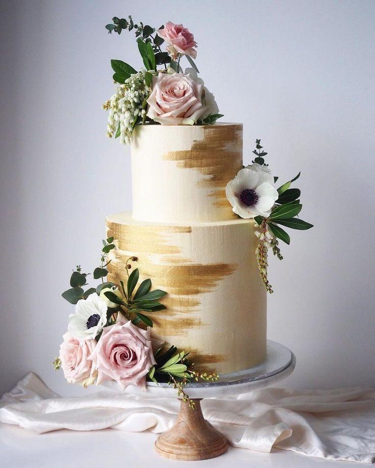 100 hübsche Hochzeitstorten, die Sie inspirieren – Große dicke Hochzeitstorten – #b …   – Y…