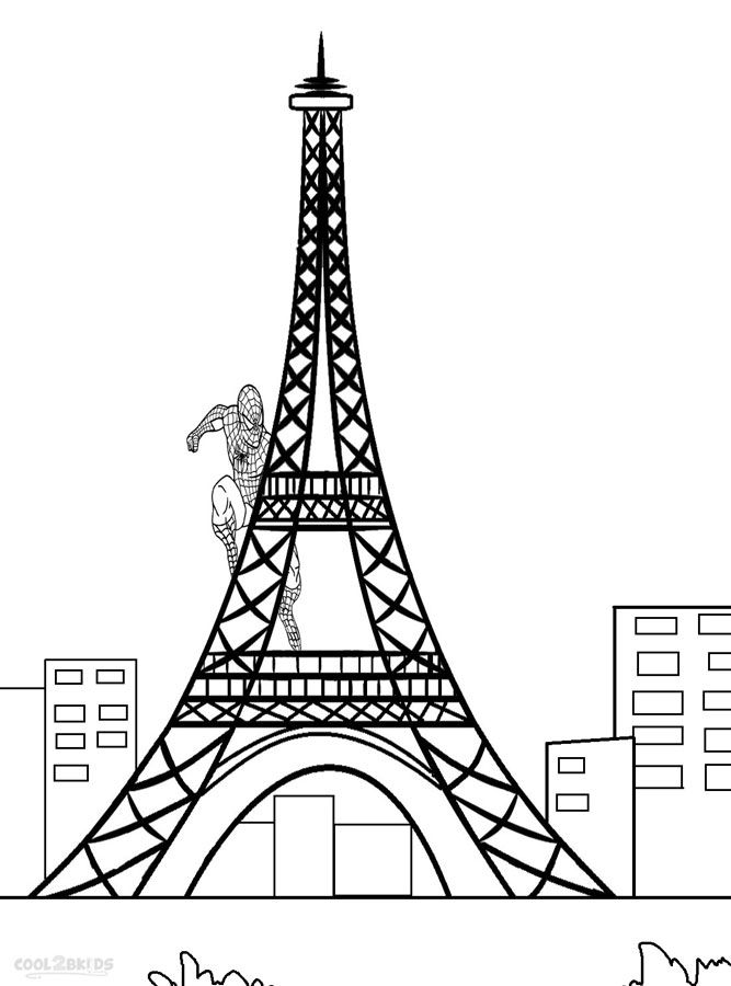 Printable Eiffel Tower Coloring Pages For Kids | Cool2bKids ...
