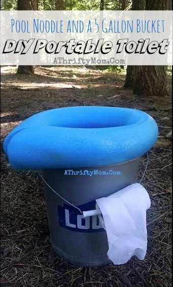 Camping Toilet Portable POOPER And Low Cost All You Need Is A 5 Gallon Bucket Pool Noodle Ideas Outdoor Living Popular