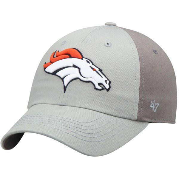 b2c1d416123 Denver Broncos  47 Northside Clean Up Adjustable Hat - Gray Dark Gray -   21.99