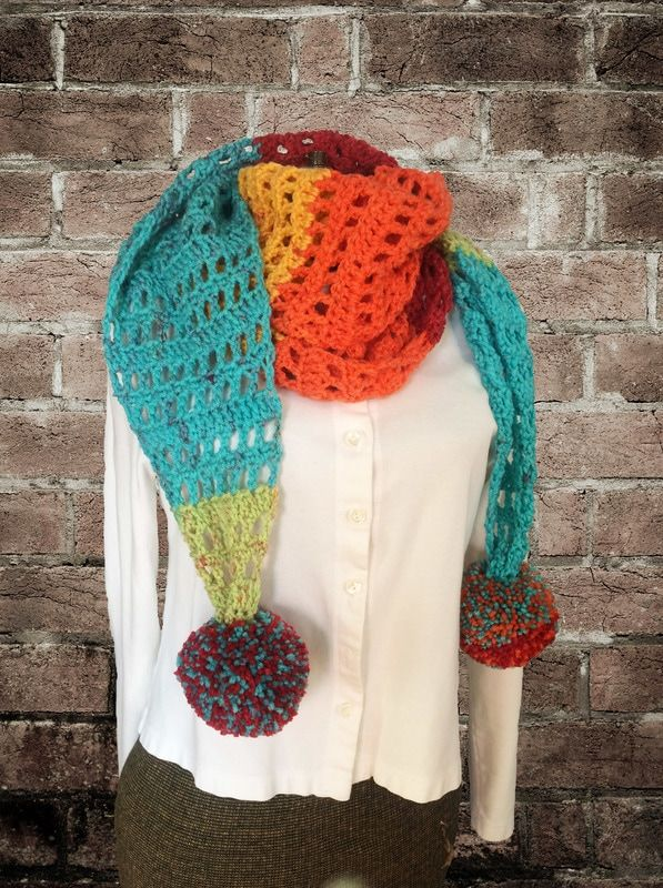 Free Crochet Pattern! Rainbow Road Scarf-DarkHumorGirl Productions ...