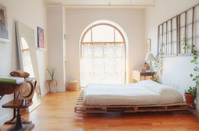 Bed Van Pallets : Slaapkamer bed van pallets for the home pallet