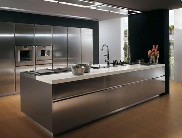 50 Stainless Steel Kitchen Ideas_40  Kitchen Design Ideas Classy Designer Kitchens For Sale Inspiration Design