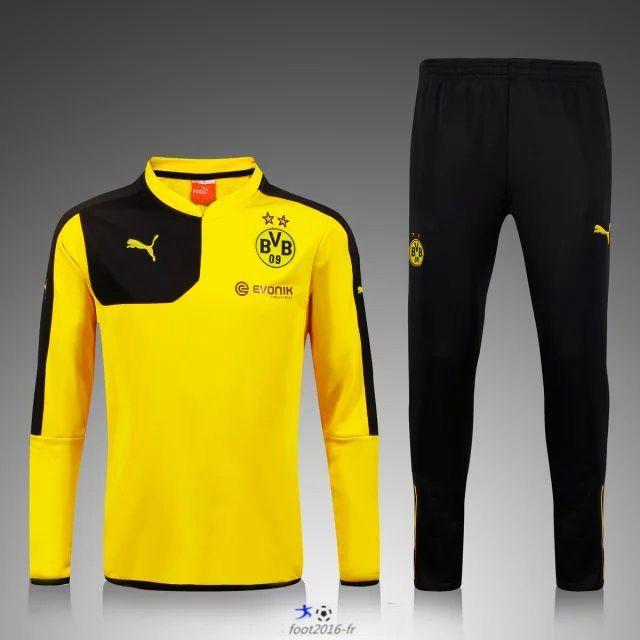 Fournisseur Nouveau Survetement de foot Dortmund BVB Jaune
