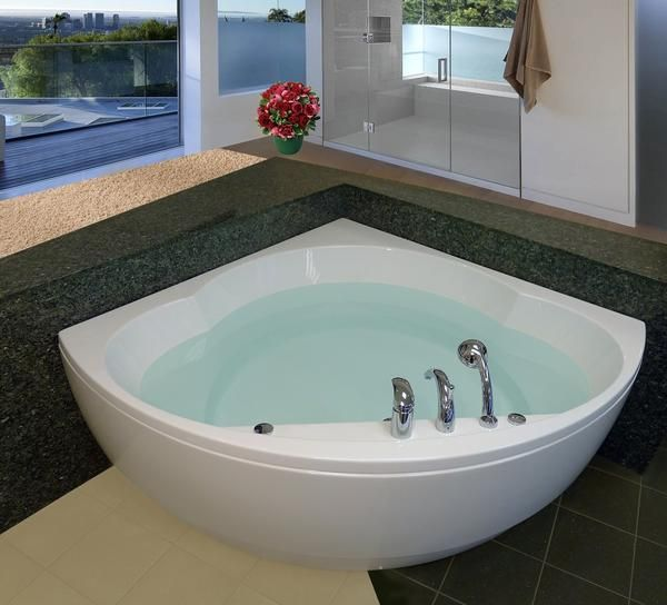 Aquatica Cleopatra: Two Person Rounded Corner Soaking Tub | Cleopatra,  Corner And Corner Tub