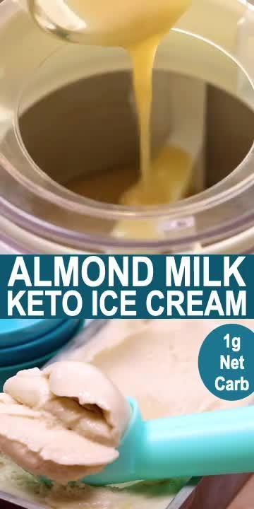 Keto Almond Milk Ice Cream Recipe