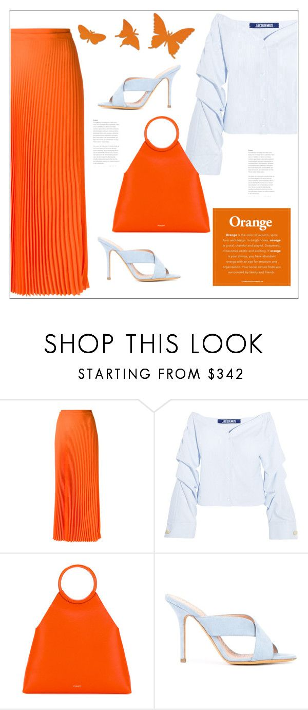 """""""Orange!!"""" by bliznec ❤ liked on Polyvore featuring Haider Ackermann, Jacquemus, Michael Kors and ALEXA WAGNER"""