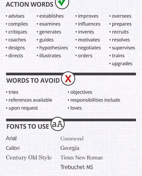 Resume Key Words, Resume Tips