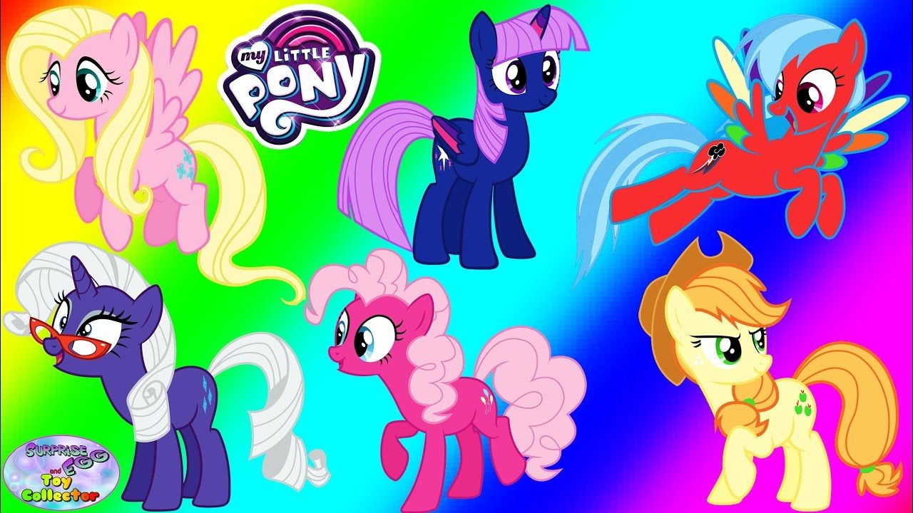 My Little Pony Transforms Mane 6 Color Swap Inverted