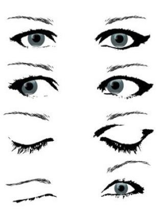 How to draw a closed eye