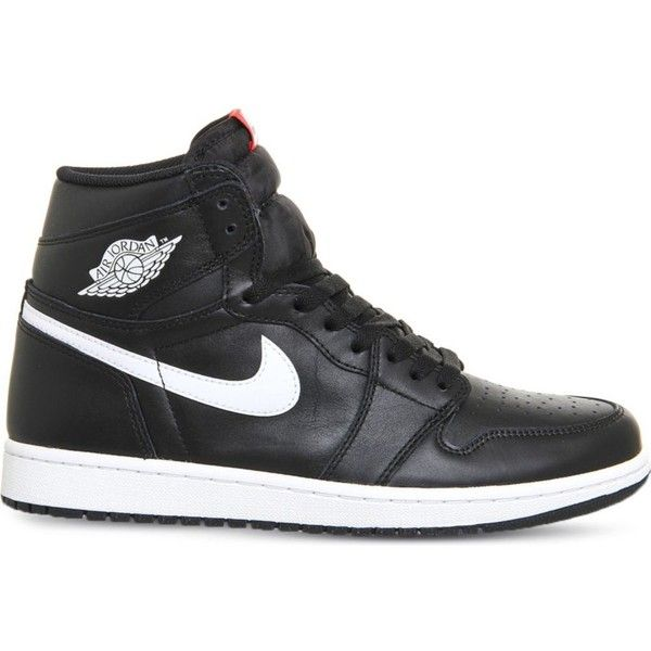 Nike Air jordan 1 retro leather high-top trainers ($135) ❤ liked ...