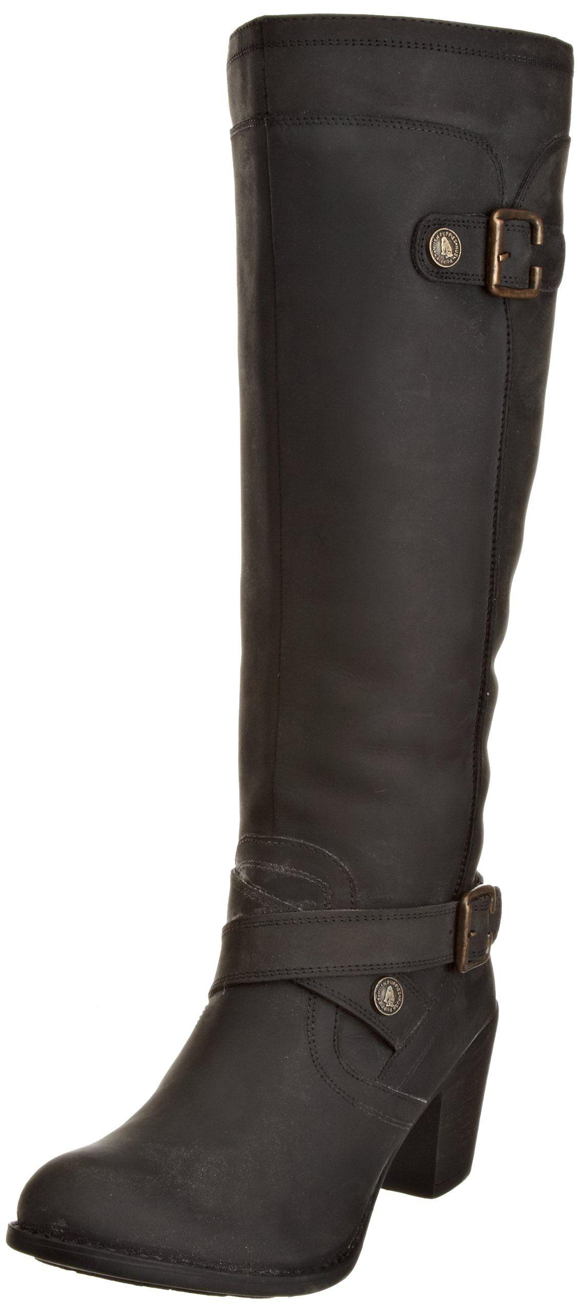 Hush Puppies Women's Marshfield Black £125 Knee high