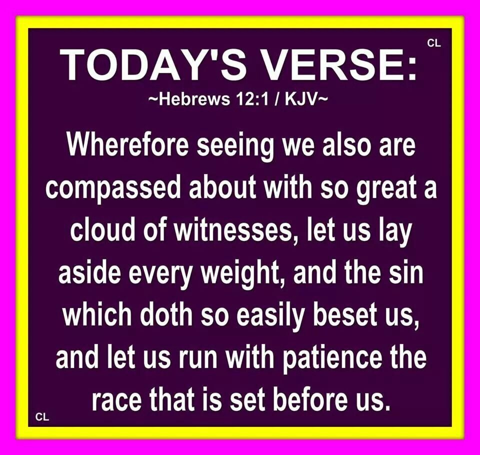 Image result for Hebrews 12:1 kjv