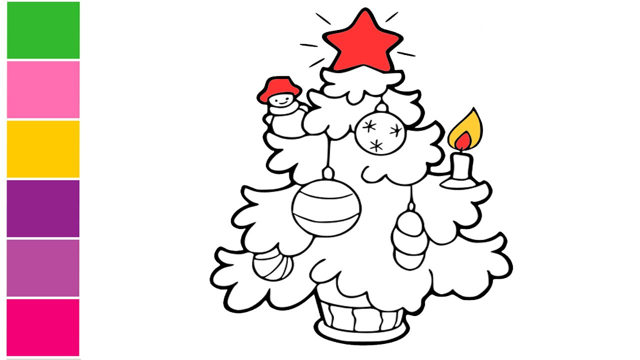 Christmas Tree Santa Claus How To Draw Christmas Tree Santa Claus Very Easy