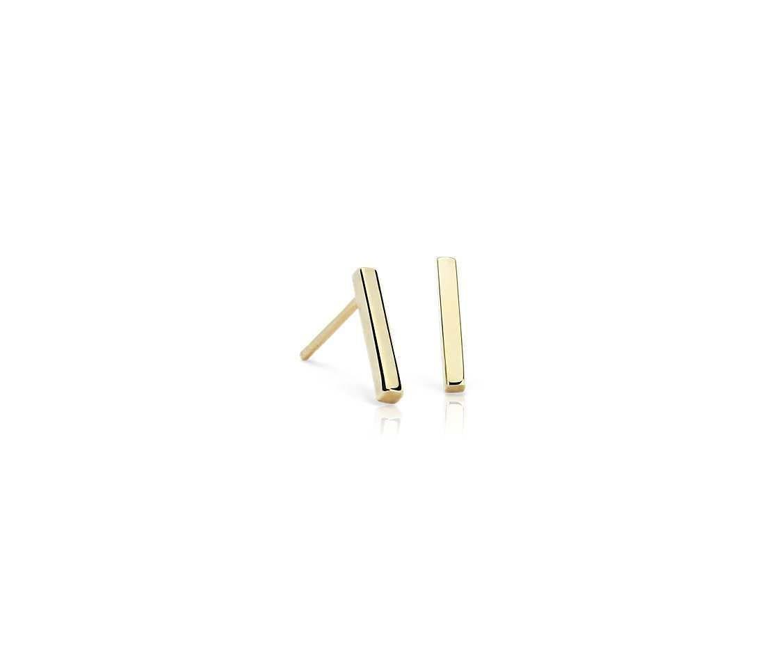 14k gold bar earrings   Gold bar earrings and Cartoon silhouette