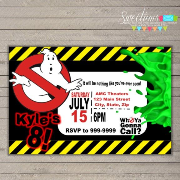 Ghostbusters Invitations Ghostbusters Party Pinterest