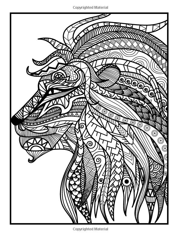 Amazon.com: Adult Coloring Books: Animal Mandala Designs ...