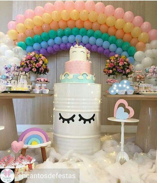 Ideias para uma decora o de festa no tema unic rnio for Decoracion 15 anos unicornio