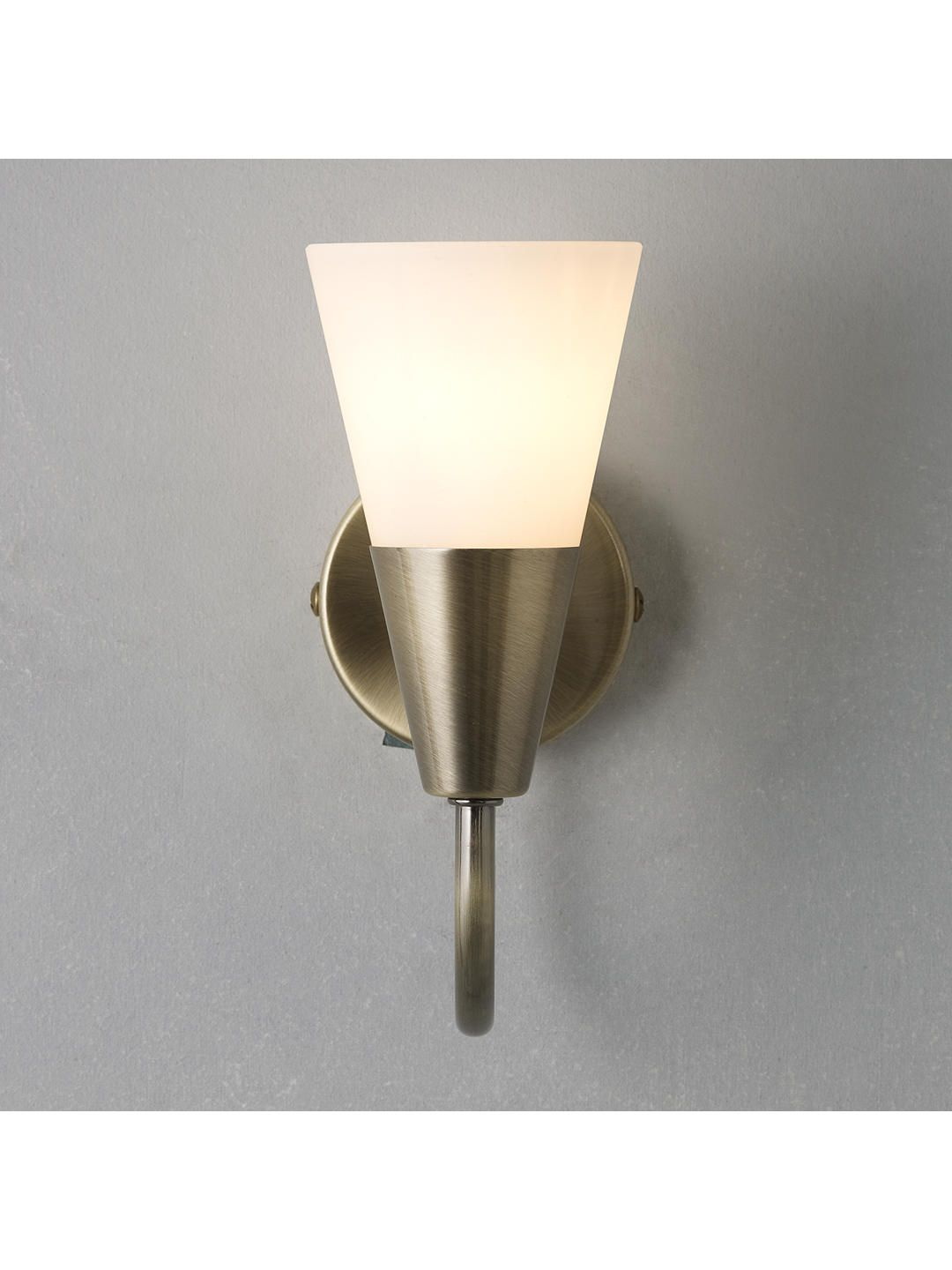 John Lewis Partners Lulu Wall Light Antique Br