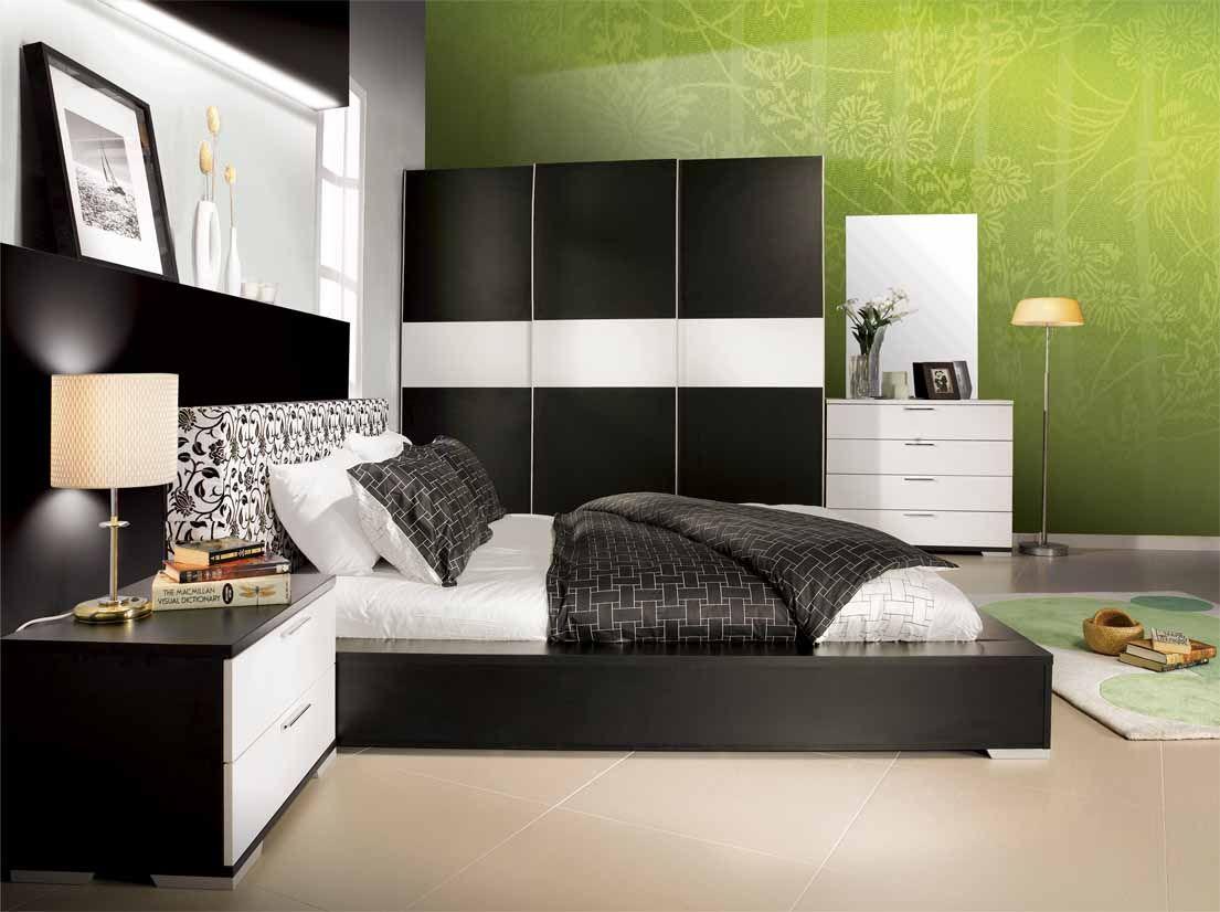 Sharp Bedroom With Black Furniture Design Trend Decoration