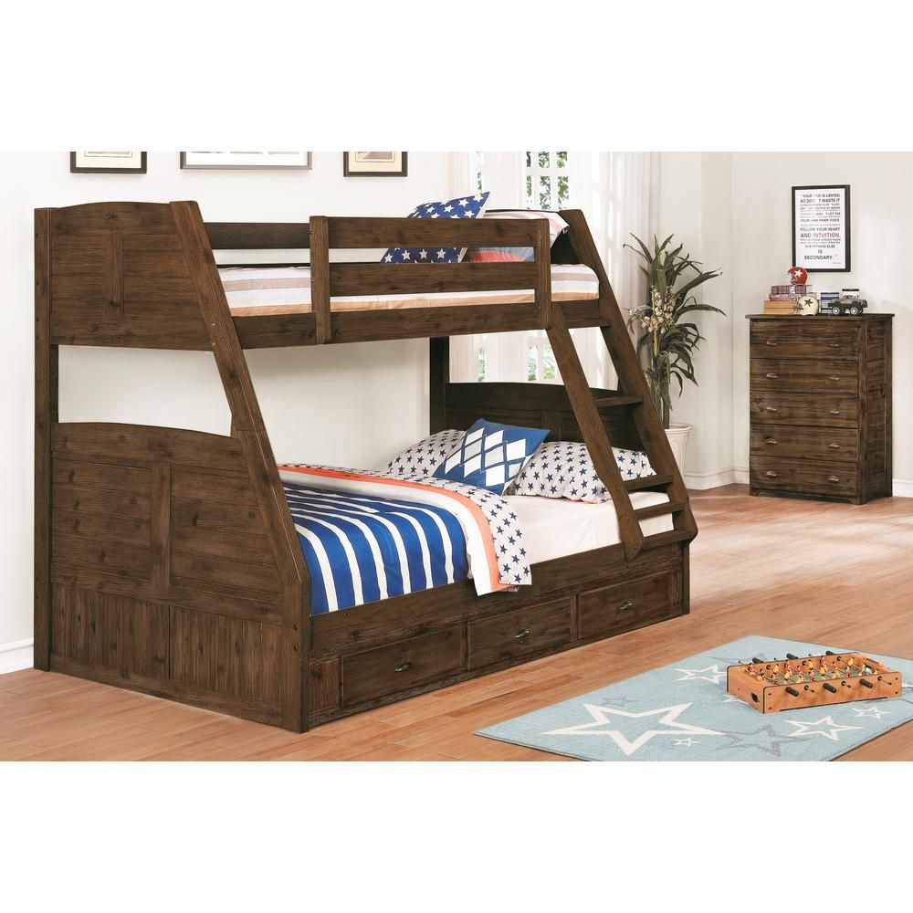 American Furniture Classics Chestnut Twin Over Full Solid Wood
