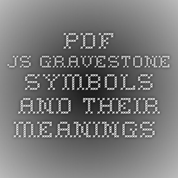 Pdfjs Gravestone Symbols And Their Meanings Family History