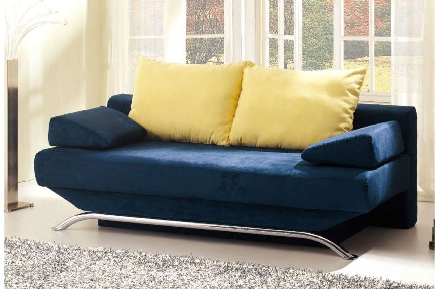 Croma Sofa Bed In Blue Fabric By ESF Furniture