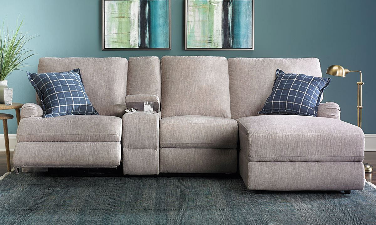 Picture of Alton Power Reclining Sectional Sofa with Chaise | Living ...