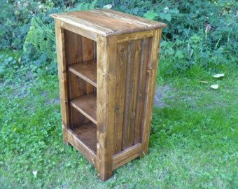 Rustic Pallet Bookcase, Cabinet, Rustic Nightstand, End Table, Jelly Cabinet,  Bathroom
