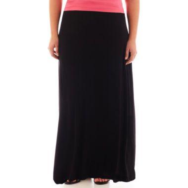 A N A 174 Wide Waistband Knit Maxi Skirt Plus Found At