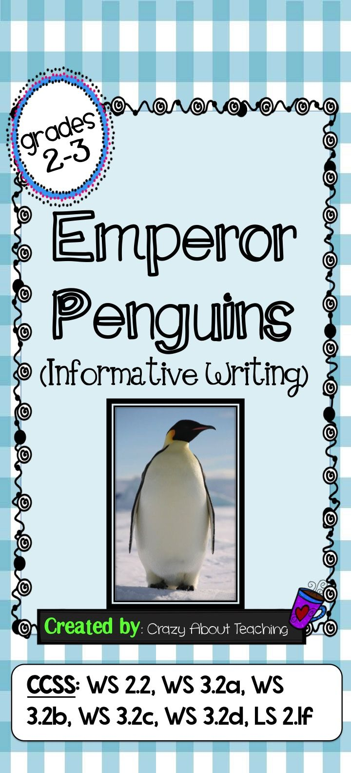 emperor penguins informative writing posts writing prompts and this writing packet helps students research facts to write an informative piece on emperor penguins it includes instructions informative writing