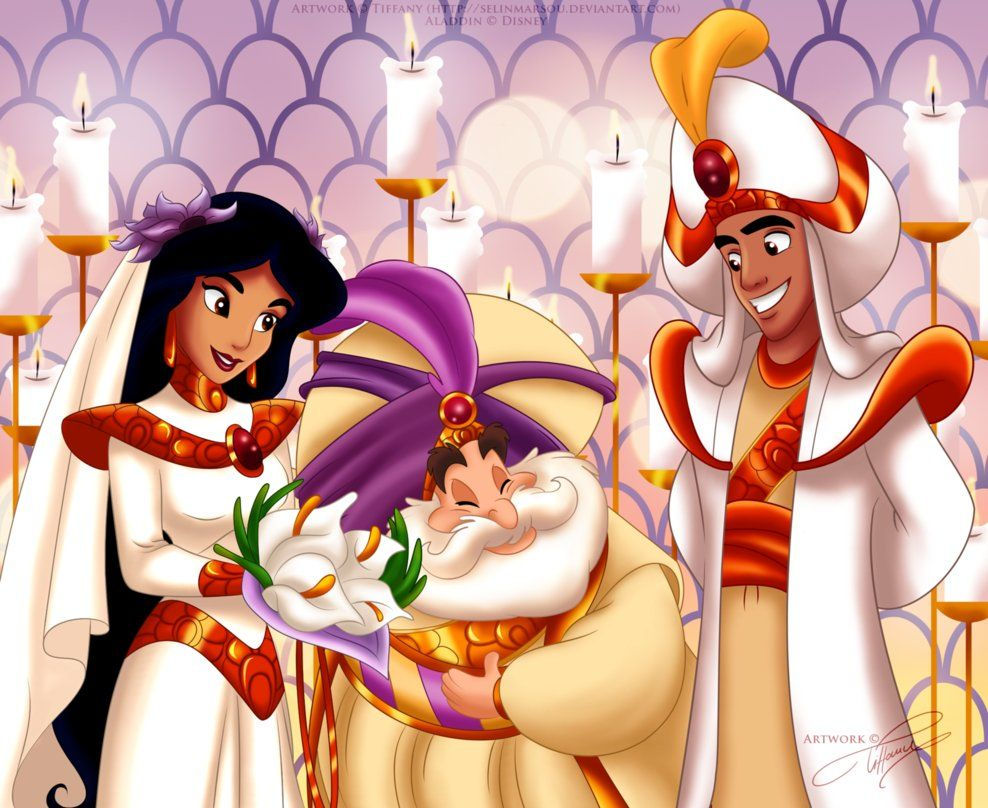 The Royal Wedding By Selinmarsou On Deviantart Aladdin And Jasmine Disney Disney Fan Art [ 808 x 988 Pixel ]