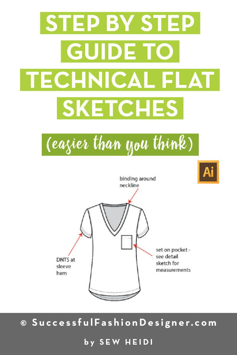 How To Create Technical Flat Sketches In Illustrator Fashion