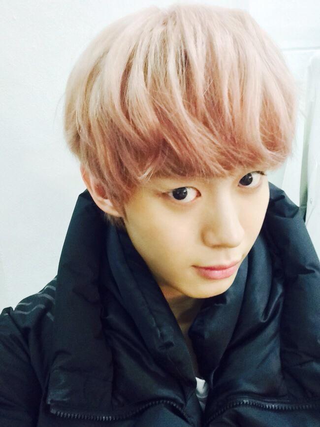 VIXX_HONG BIN TWITTER UPDATE 26/2/2015 ---------내 머리 색깔은 핑쿠레오 핑쿠핑쿠!