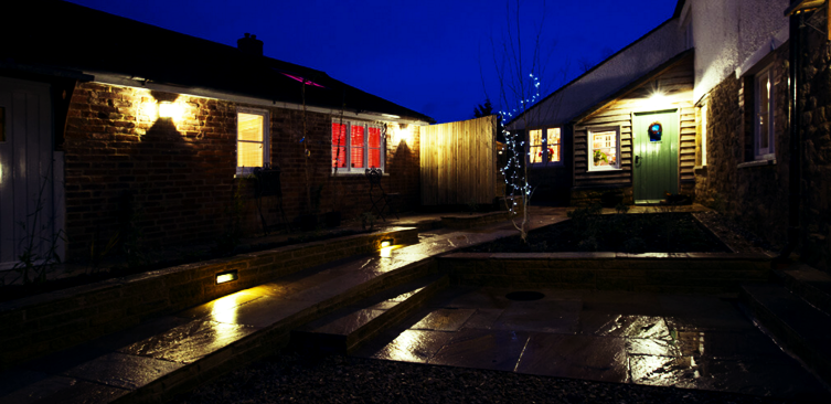 Transformed pub courtyard | Outdoor lighting ...