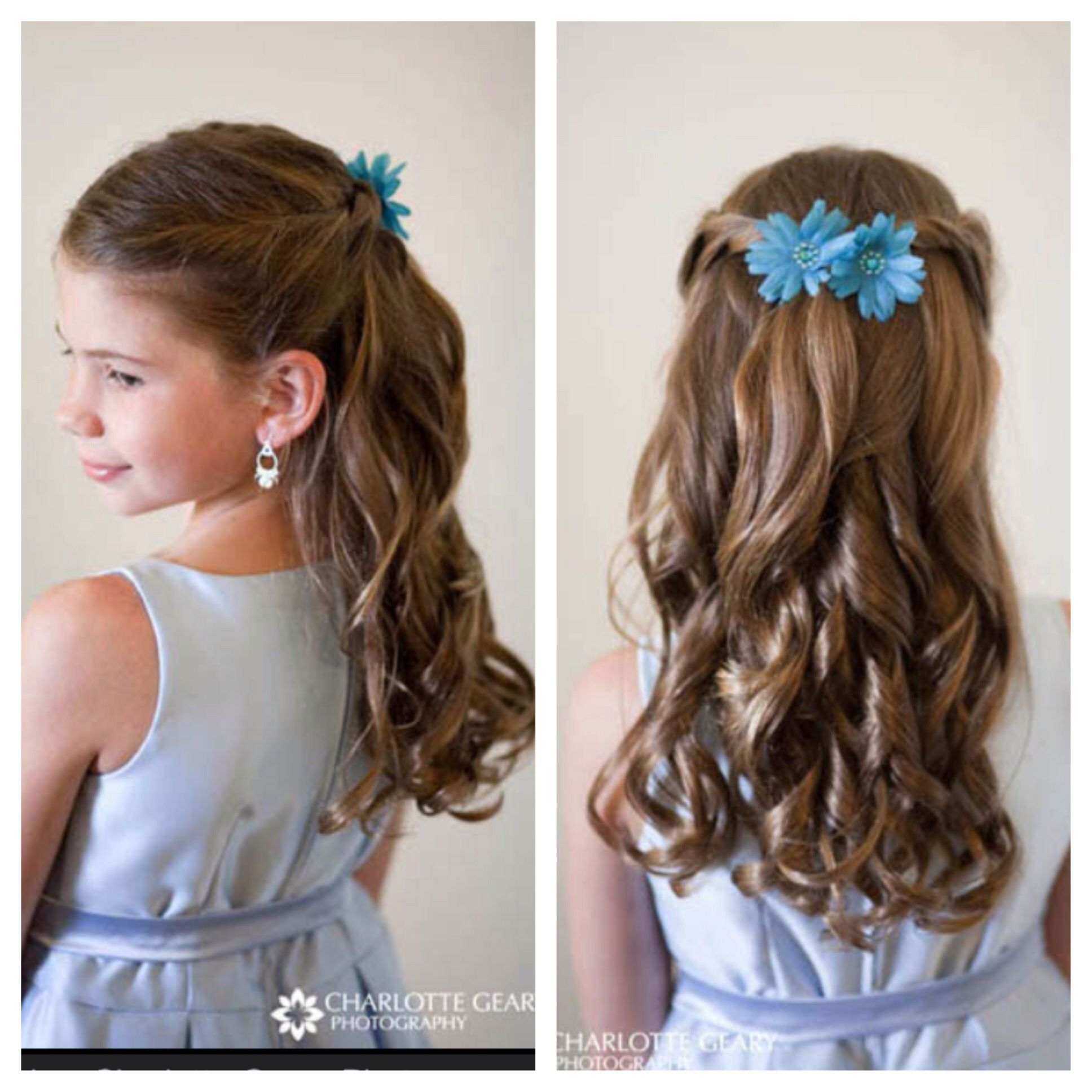 Hair Do For The Flower Girls Girls Hair Style Peinados