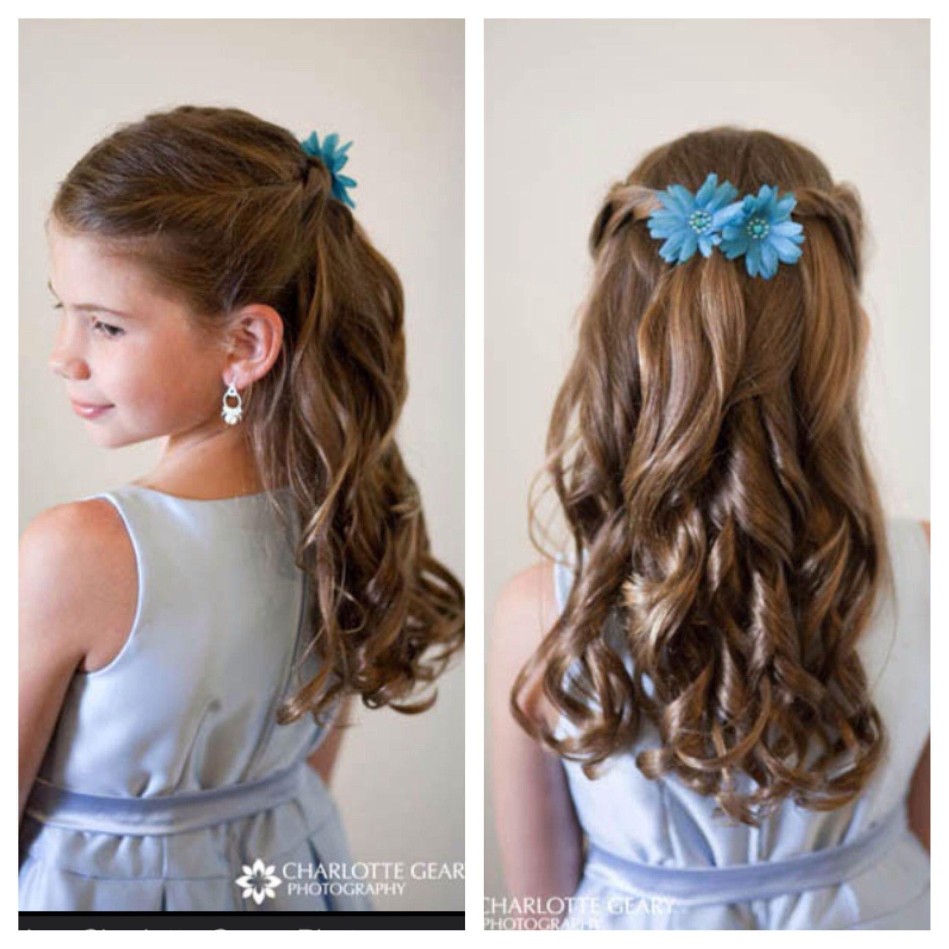 Hair do for the flower girls Girls hair style Pinterest