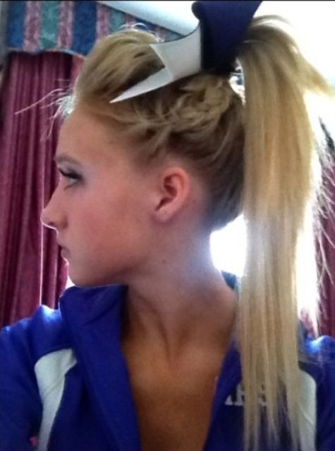 Cheerleader Hairstyles Fascinating Maybe Poof With The Braid  Hairstyles  Pinterest  Cheer Hair