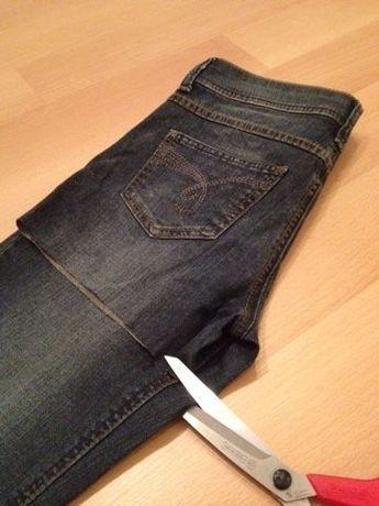 Siempre quise coser una bolsa con jeans viejos. Y ahora es …