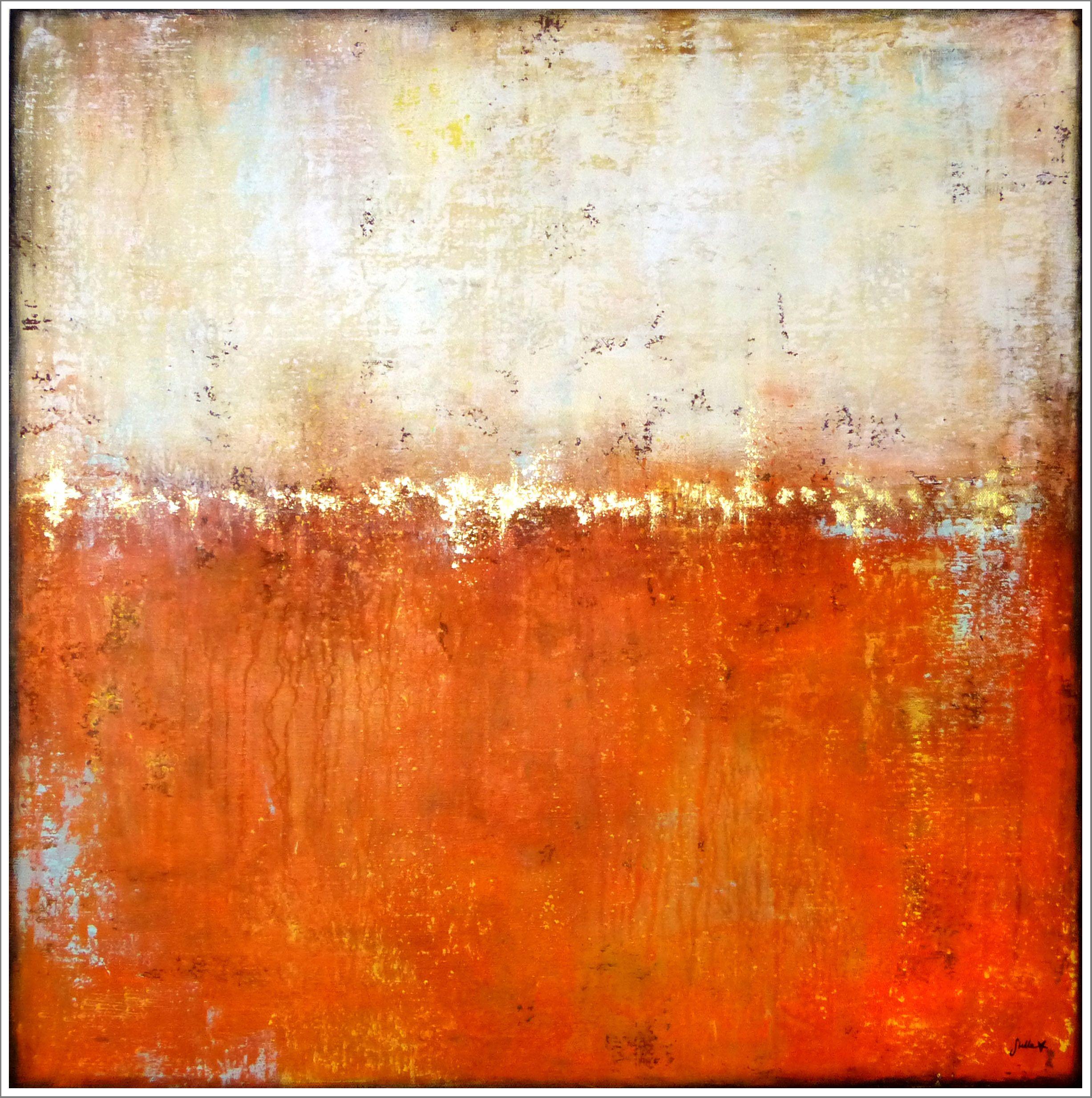 Stella Hettner Feel The Sunray Energy 70x70 Acrylmalerei Abstrakt Malerei Abstrakte Malerei