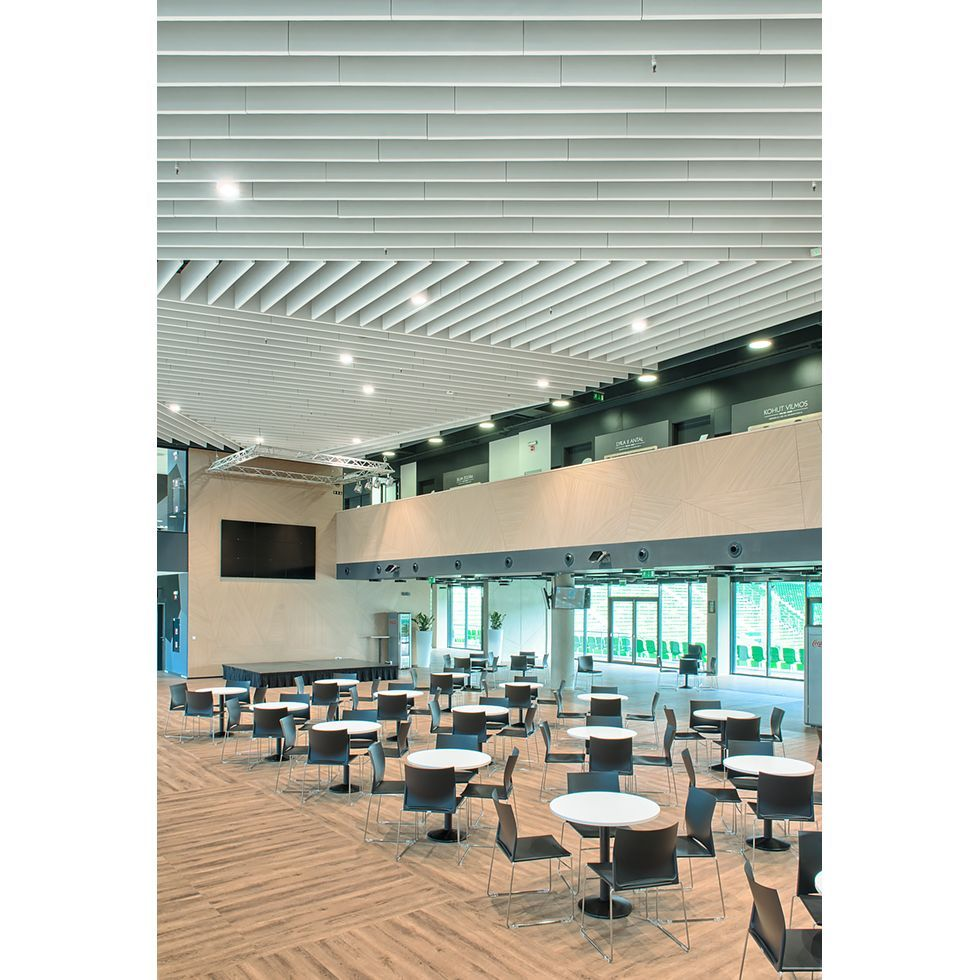 Groupama Arena In Budapest Hungary Project Size 1800 M2 Ceiling  # Muebles Titan Plaza
