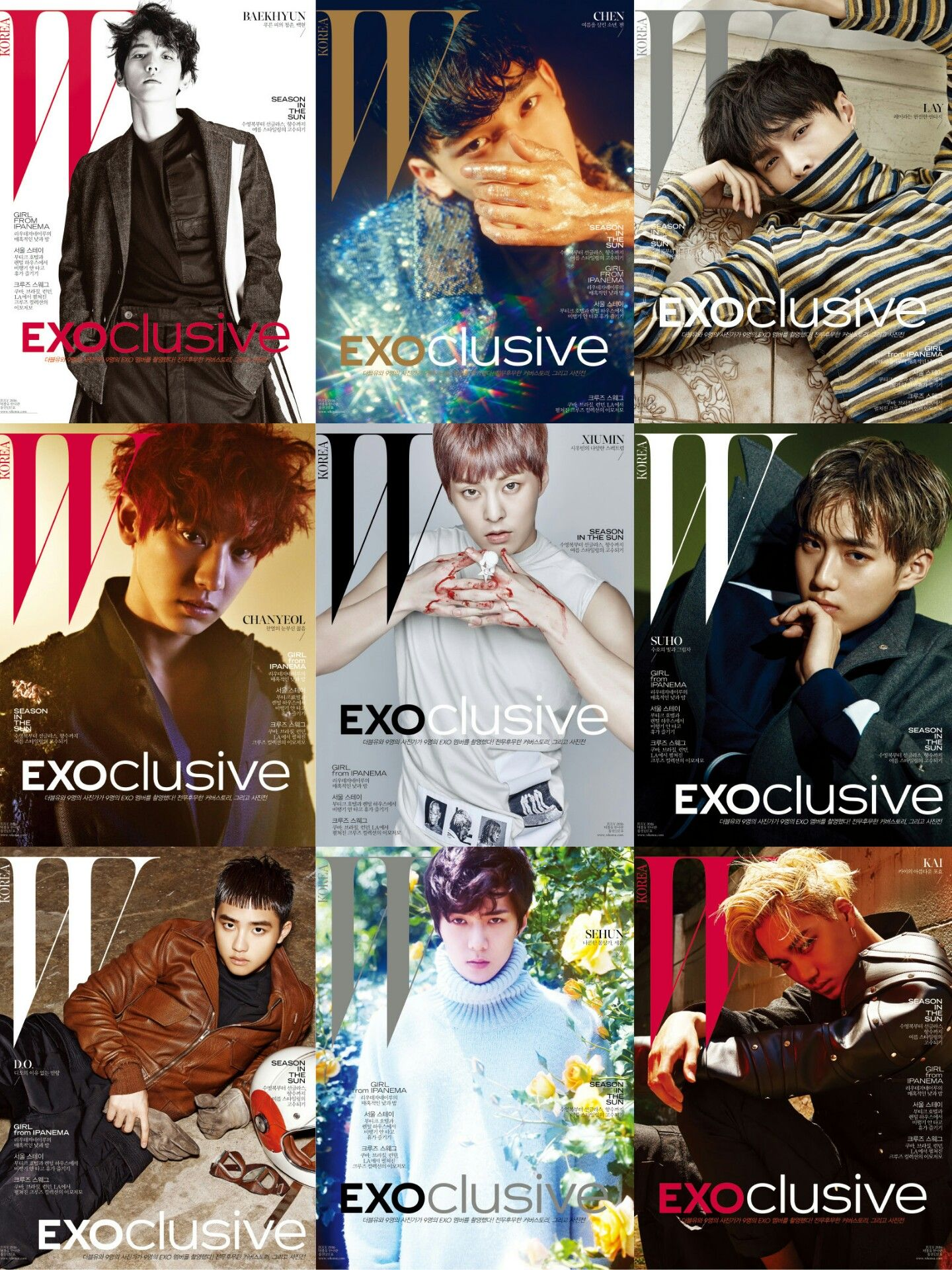 #EXO to launch a project '#EXOclusive' with fashion magazine <W Korea>