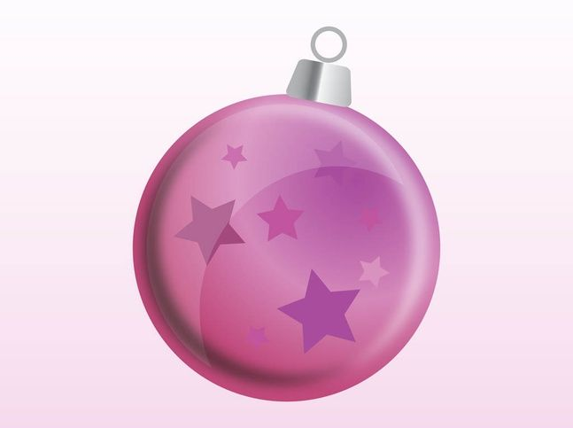round christmas ball ornaments | Christmas Vector Ornament