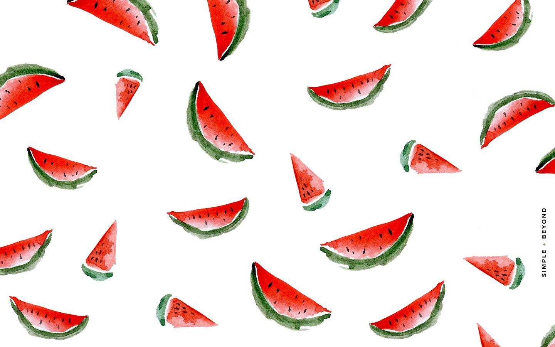 Watermelon Desktop Wallpaper Simple + Beyond Обои для