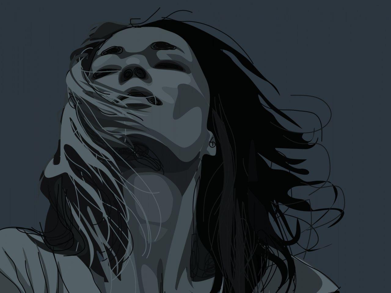 X Vektor Wallpaper Download Gambar Potret Wallpaper Gadis Vektor Rambut Latar Belakang Wajah Vektor Ilustrasi Ana Walls