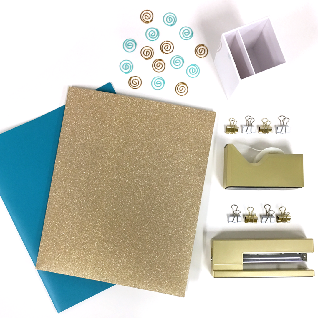 go back to school in style glitter folders gold staplers and rh pinterest com