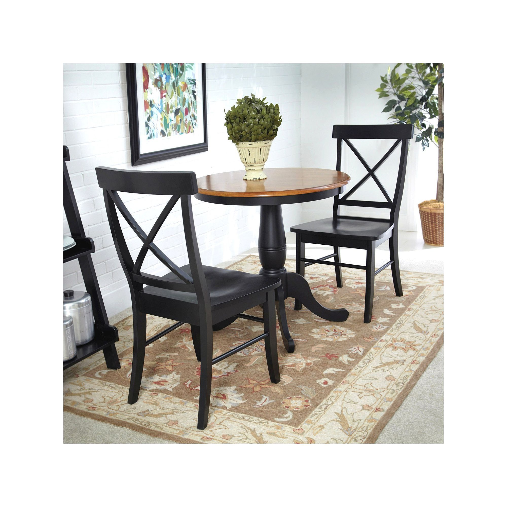 3 pc round dining table x back chair set products round rh pinterest ch