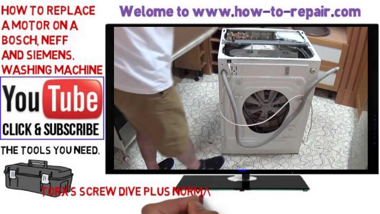 How To Change My Bosch Washing Machine Motor Washing Machine Motor Washing Machine Bosch Washing Machine