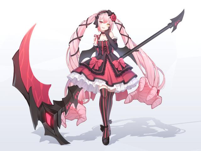 Anime menina com longos cabelos rosa wallpapers e imagens